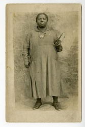 African American woman with book