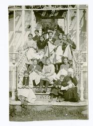 Group portrait on front steps
