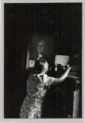Woman and George Washington Painting