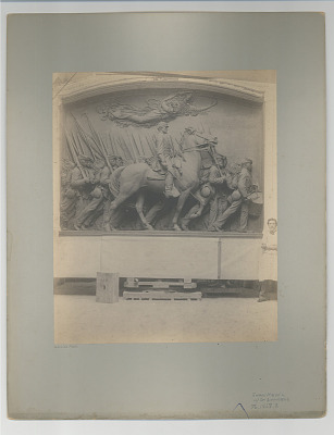 August Saint Gaudens with Shaw Memorial