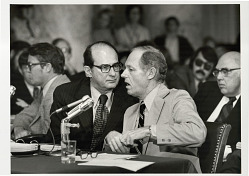 Howard Hunt talks to his lawyer