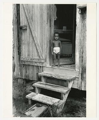 Young boy in doorway