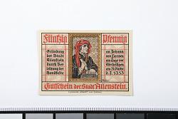 50 Pfennig, Allenstein, Germany, 1921
