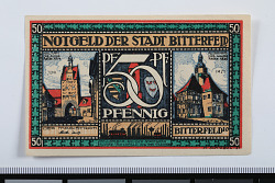 50 Pfennig Note, Bitterfeld, Germany, 1921