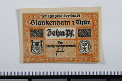 10 Pfennig Note, Blankenhain, Germany, n.d.