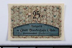 25 Pfennig Note, Blankenhain, Germany, 1921