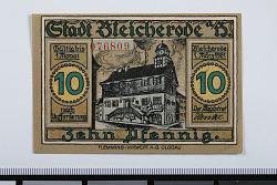 10 Pfennig Note, Bleicherode, Germany, 1921