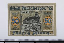 50 Pfennig Note, Bleicherode, Germany, 1921