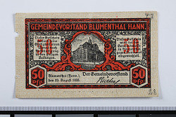 50 Pfennig Note, Blumenthal, Germany, 1920