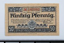 50 Pfennig Note, Bocholt, Germany, 1918