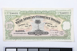What did money look like under colonial rule in West Africa?