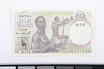 10 Francs, French West Africa, 1953