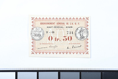 50 Centimes, Upper Senegal and Niger, 1917