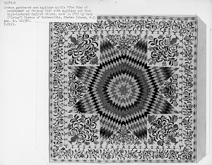 """images for 1825 - 1835 Betsy Totten's """"Rising Sun"""" Quilt-thumbnail 3"""