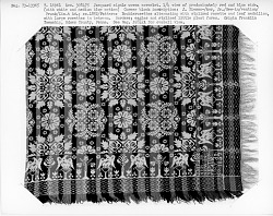 Jacob Biesecker Jr.; coverlet, Jacquard, tied-Beiderwand; 1852; Pennsylvania
