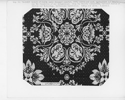 """""""Agriculture and Manufacture,"""" Figured and Fancy, double-cloth coverlet; 1840; New York"""
