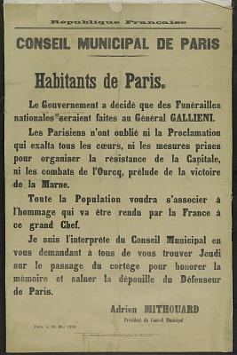 Consiel Municipal De Paris Habitants De Paris
