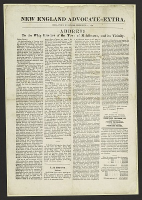 Address To the Whig Electors of the Town of Middletown