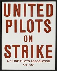 United Pilots on Strike