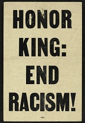 Honor King: End Racism