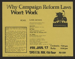 Why Campaign Reform Laws Won't Work