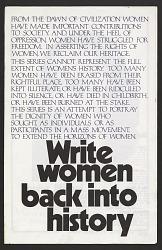Write Women Back Into History
