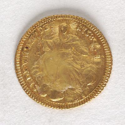 1 Zecchino, Rome, Papal States, Italy, 1758