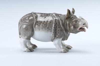 Meissen figure of a rhinoceros