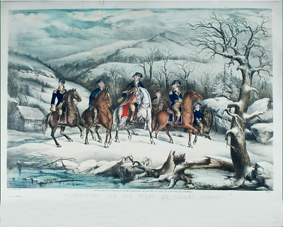 Washington and His Staff at Valley Forge