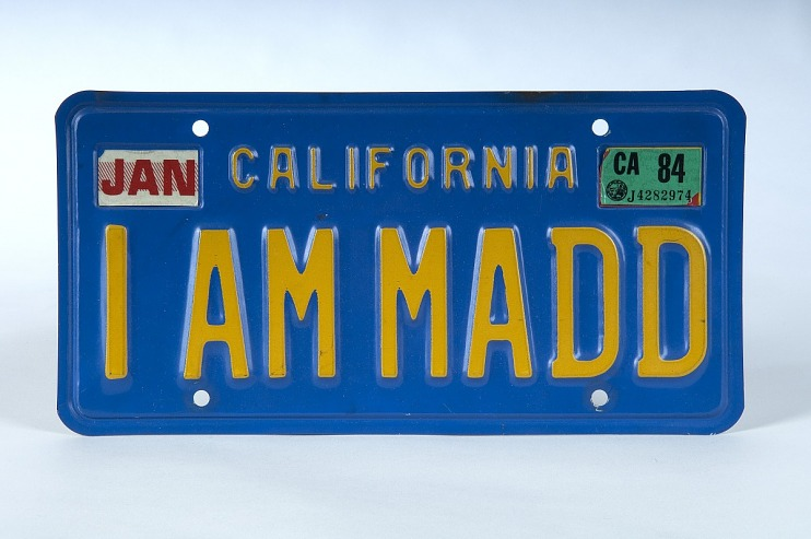 License plate – I AM MADD