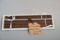 William P. Goolman's 1874 School Desk Patent Model fragment