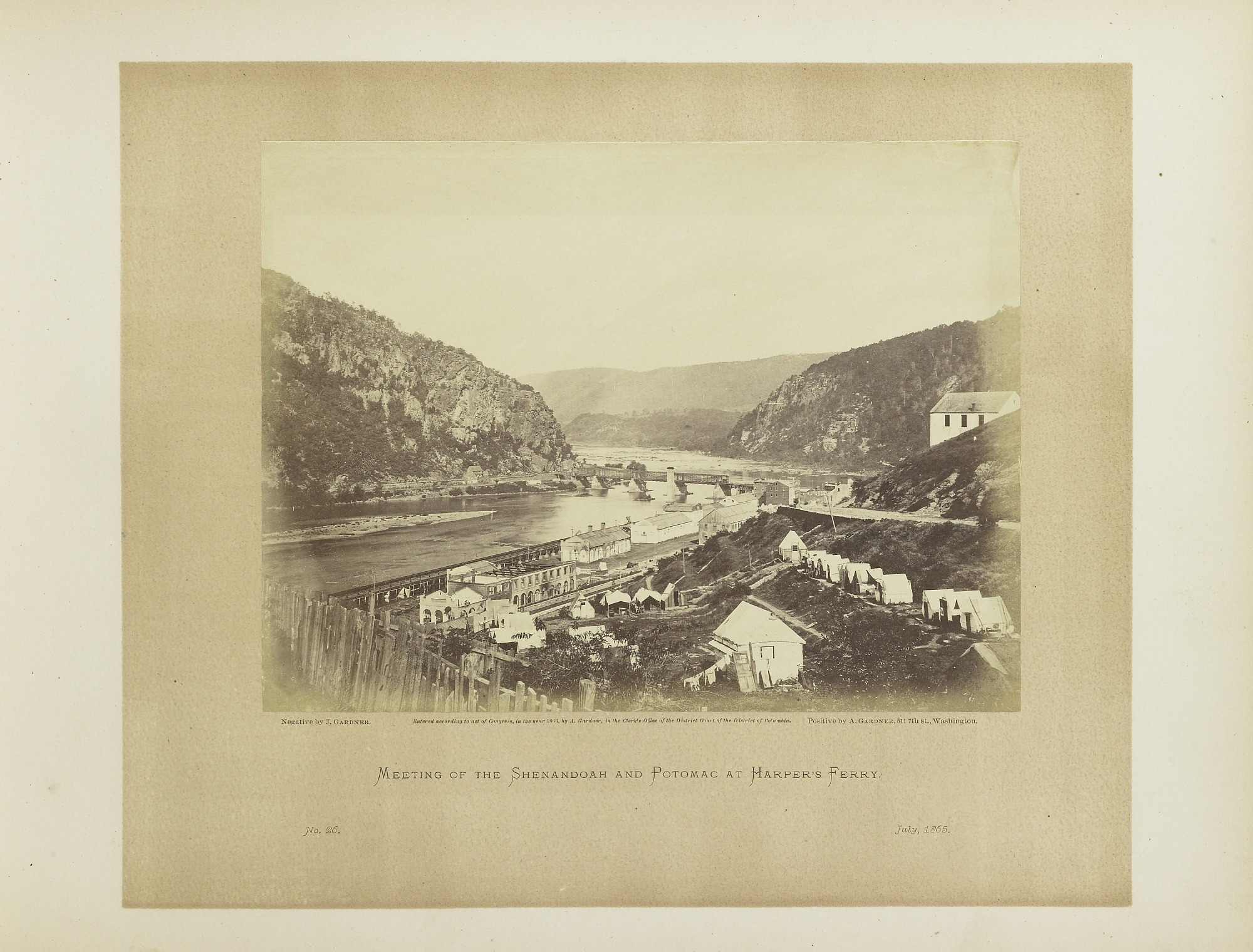 Meeting of the Shenandoah and Potomac, at Harper's Ferry