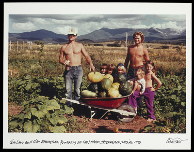 Family Harvesting Pumpkins