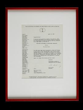 Emmy Nomination Letter, 1966