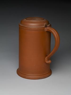 Meissen red stoneware tankard