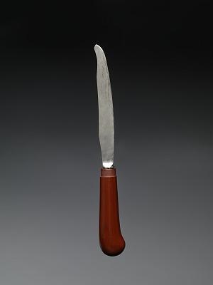 Meissen red stoneware knife handle