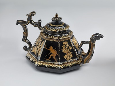 Meissen red stoneware teapot and cover