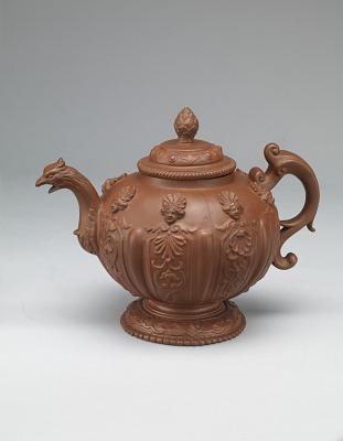 Meissen red stoneware teapot