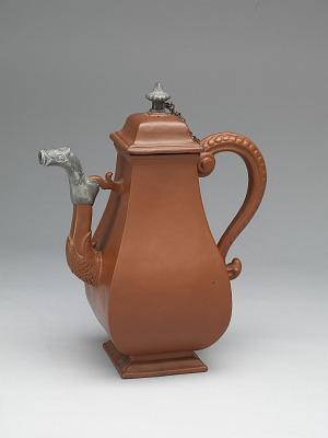 Meissen red stoneware coffeepot