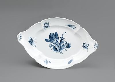 Meissen underglaze blue oval platter