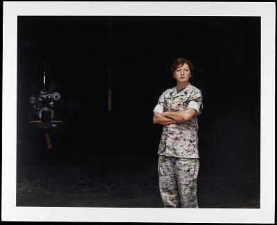 Portrait of Master Gunnery Sergeant Constance Heinz, U.S. Marine Corps