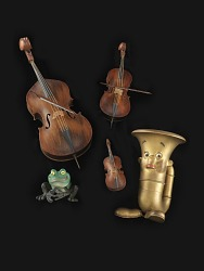 "Violin from animated movie ""Tubby the Tuba"" by George Pal"