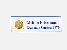 Milton Friedman Nobel Prize ID Badge