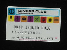 Diners Club Card, United States, 1974