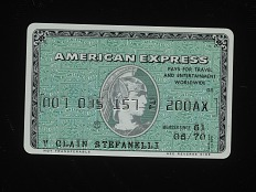 American Express Credit Card, United States, 1970