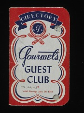 Gourmet's Guest Club Credit Card, United States, 1955
