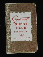 Gourmet's Guest Club Credit Card, United Statesm 1957