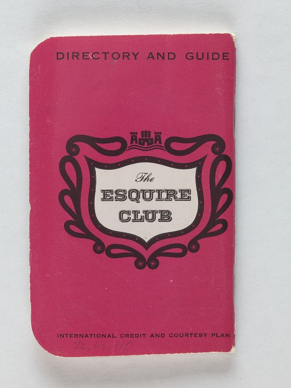 Image 1 for Esquire Club Credit Card, United States, 1957
