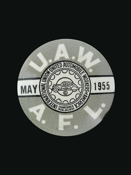 United Automobile Workers Button