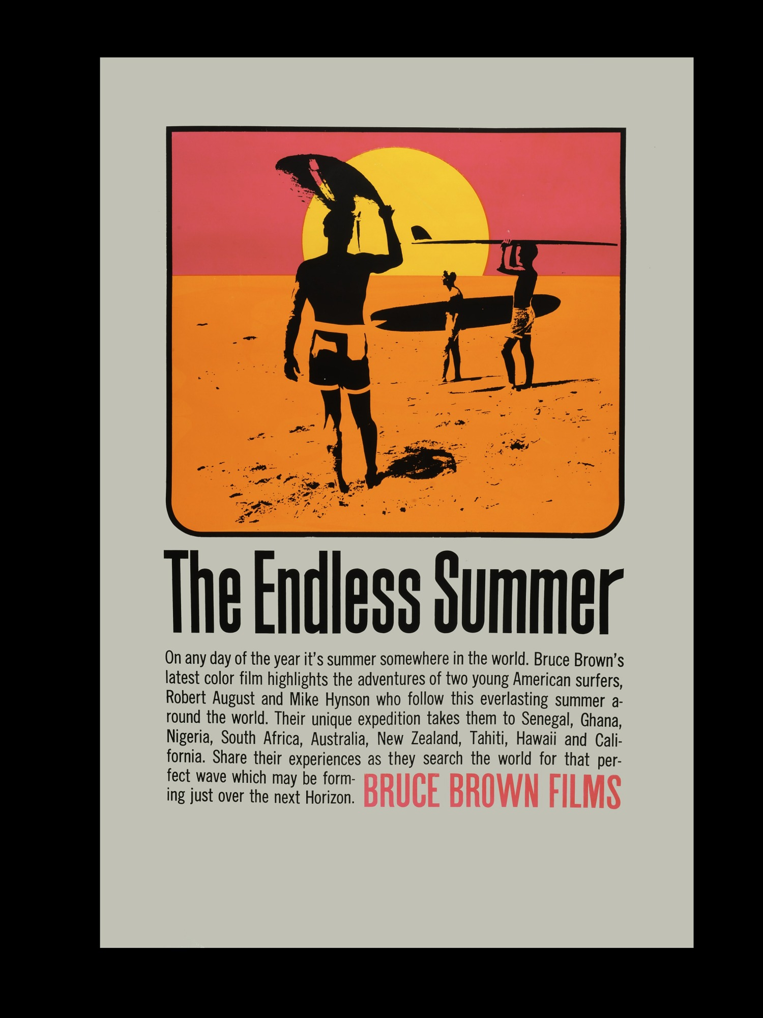 """images for Original poster from """"The Endless Summer"""" created by John van Hamersveld"""